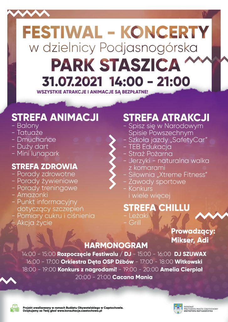 Festiwal – koncerty w dzielnicy Podjasnogórska 1