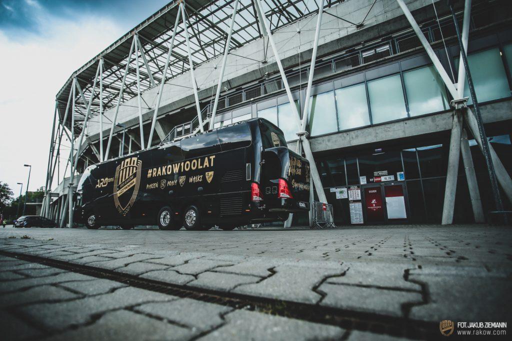 Piłkarze Rakowa trenowali w środę na stadionie Podbeskidzia i zapoznali się z obiektem 2