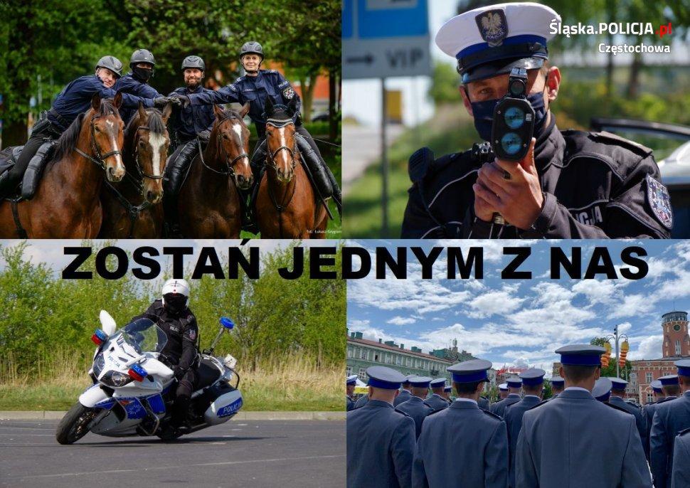W Częstochowie trwa nabór kandydatów do służby Policji w 2021 1