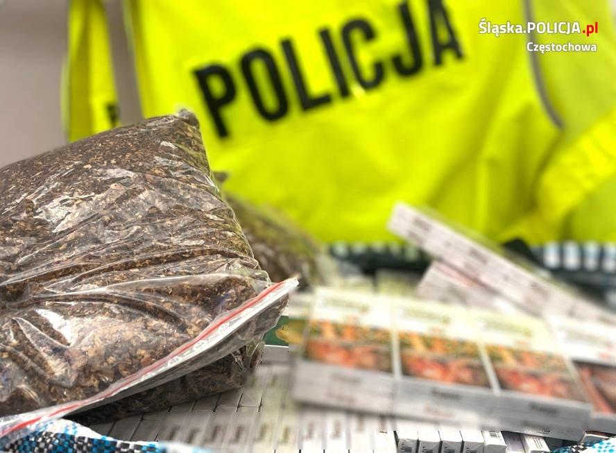 Częstochowska Policja zabezpieczyła nielegalny tytoń i papierosy 1