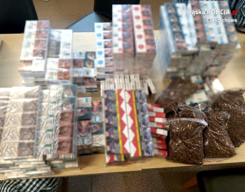 Częstochowska Policja zabezpieczyła nielegalny tytoń i papierosy 2