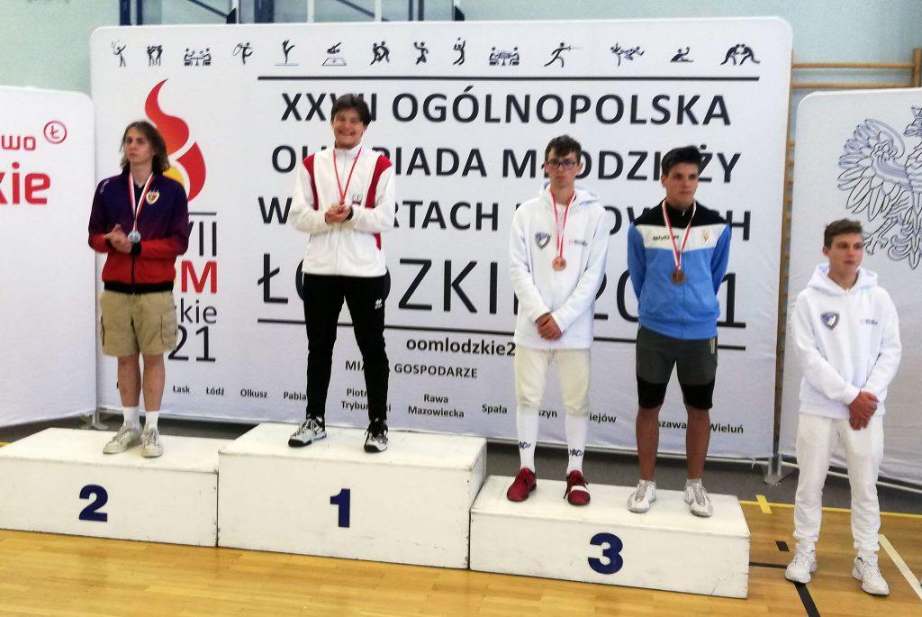 Szpadzista WLKS-u Kmicic Częstochowa Marcin Żelazny medalistą Ogólnopolskiej Olimpiady Młodzieży! 3