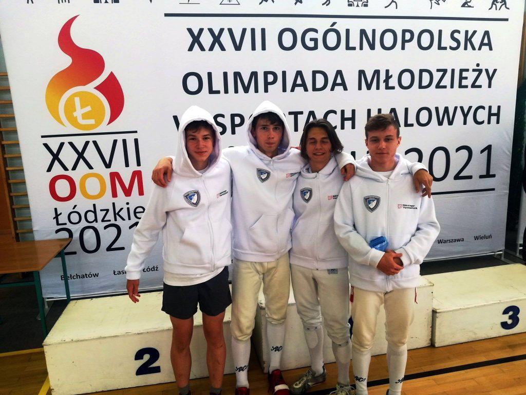 Szpadzista WLKS-u Kmicic Częstochowa Marcin Żelazny medalistą Ogólnopolskiej Olimpiady Młodzieży! 2