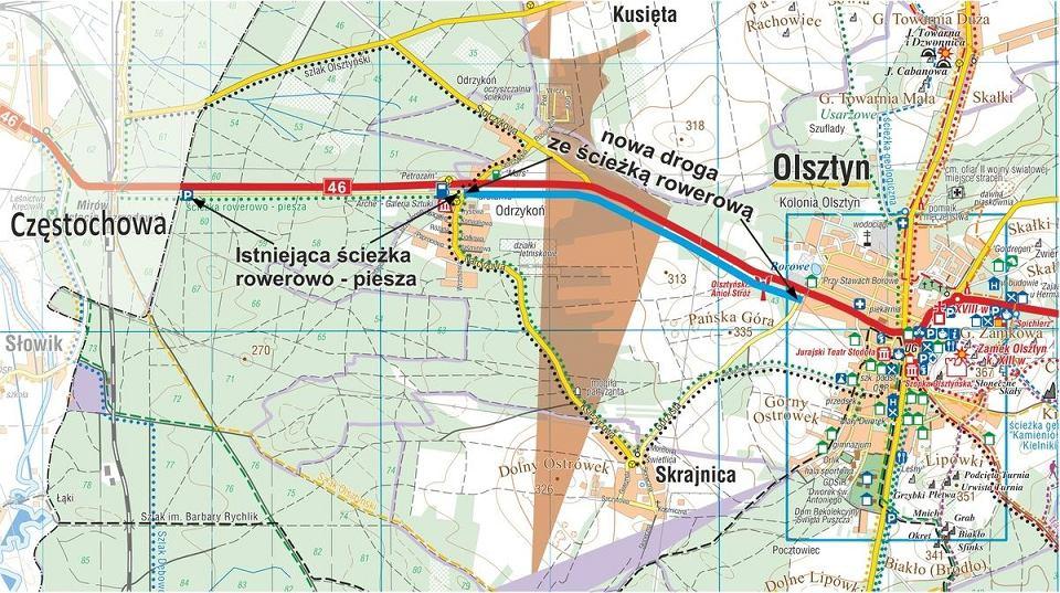 mapa ścieżki