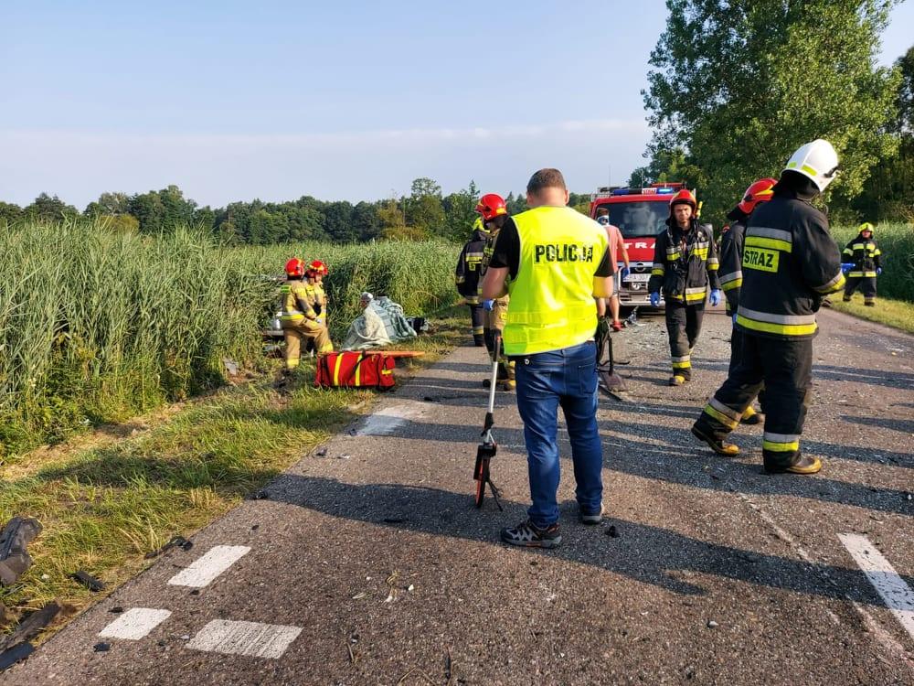 Wypadek pod Radomskiem. Dziesięć osób rannych. Sprawczyni prowadziła mając 4 prom. alkoholu 3