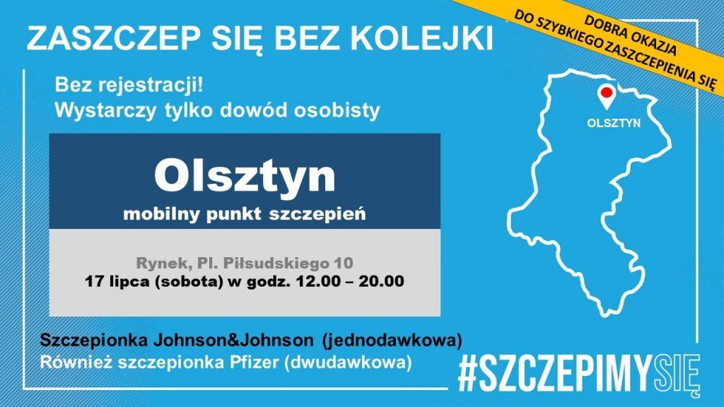 Mobilny punkt szczepień w Olsztynie 1