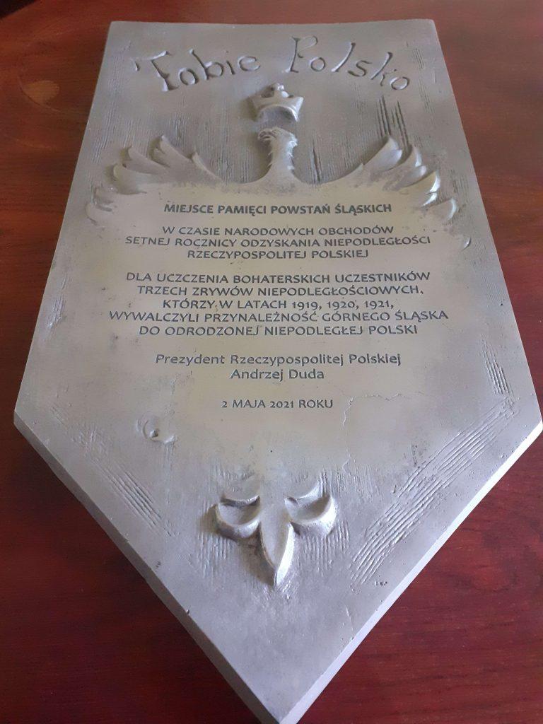 Do Częstochowy trafiła tablica upamiętniająca 100. rocznicę III Powstawia Śląskiego 2