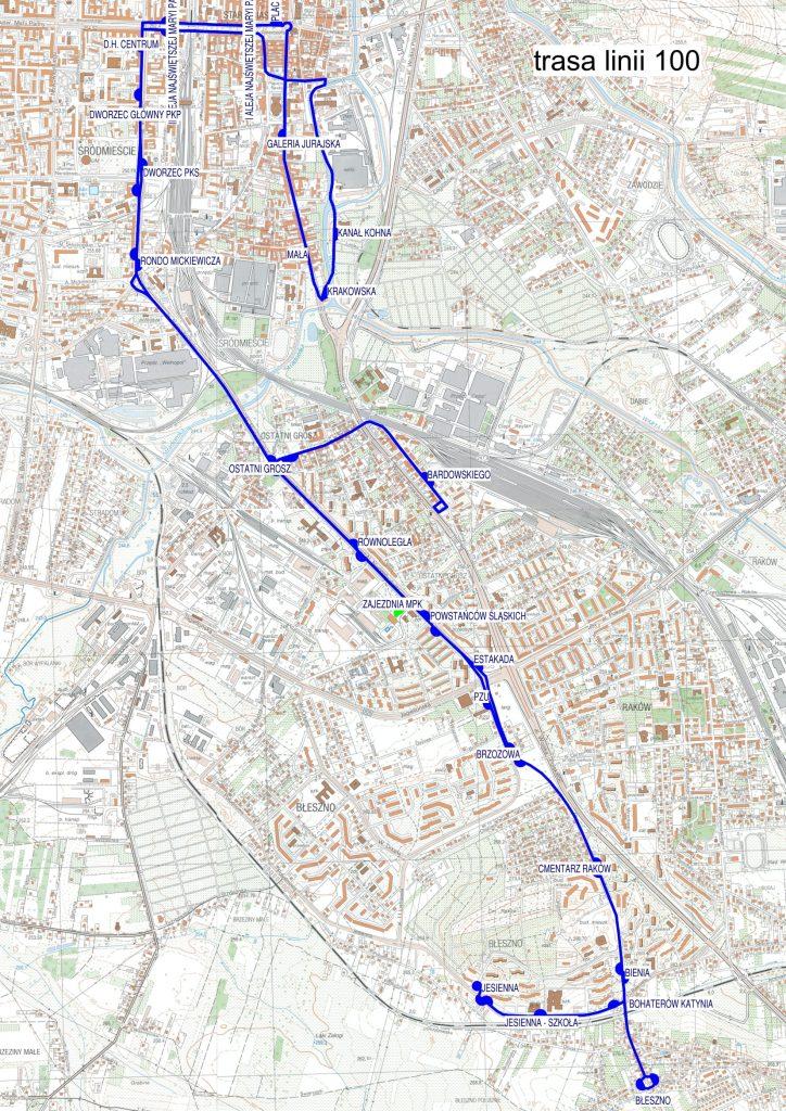 """Częstochowskie MPK uruchamia nową linię autobusową. """"Setką"""" dojedziemy ze Śródmieścia do południowych dzielnic miasta 1"""