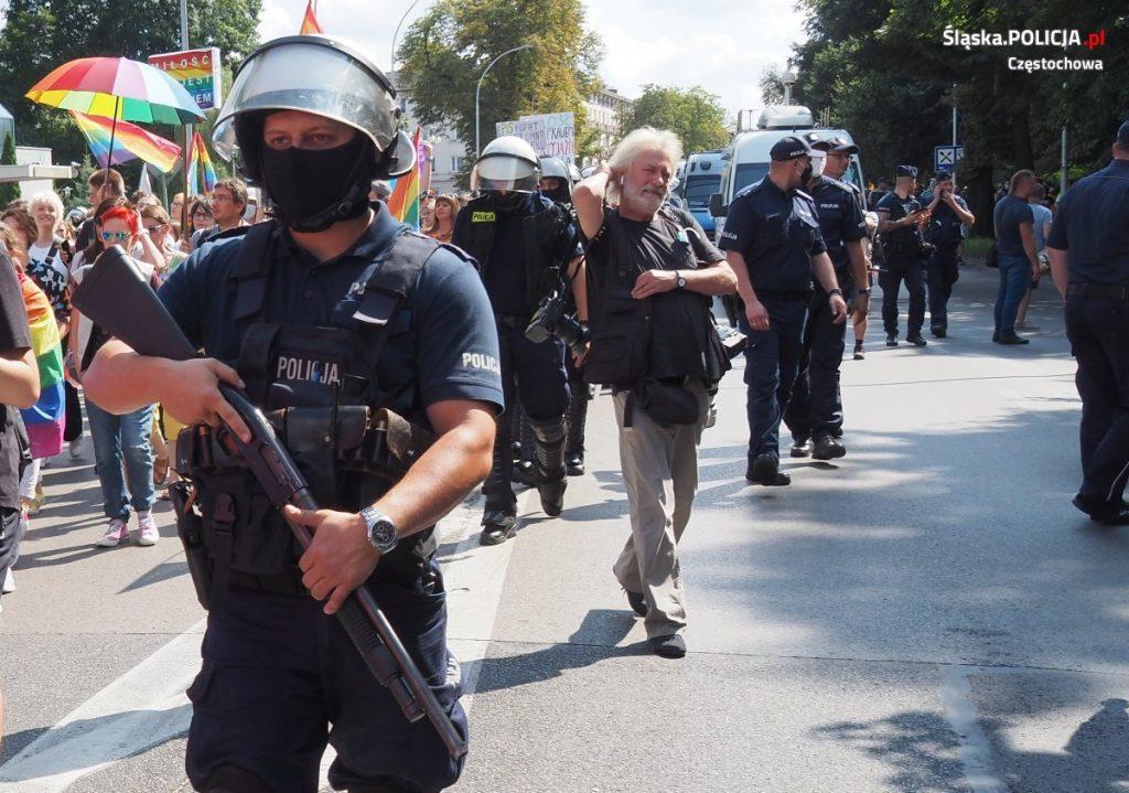 Częstochowska policja podsumowuje sobotni Marsz Równości 1