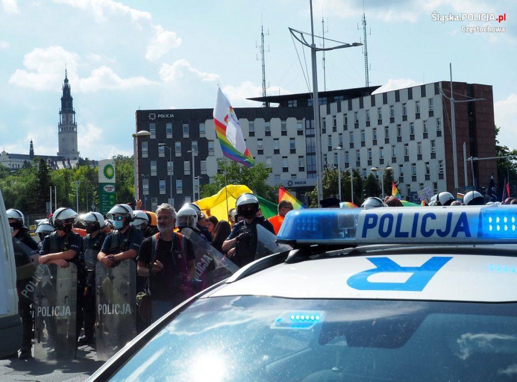 Częstochowska policja podsumowuje sobotni Marsz Równości 2