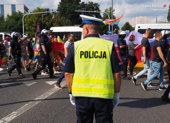 Częstochowska policja podsumowuje sobotni Marsz Równości 13