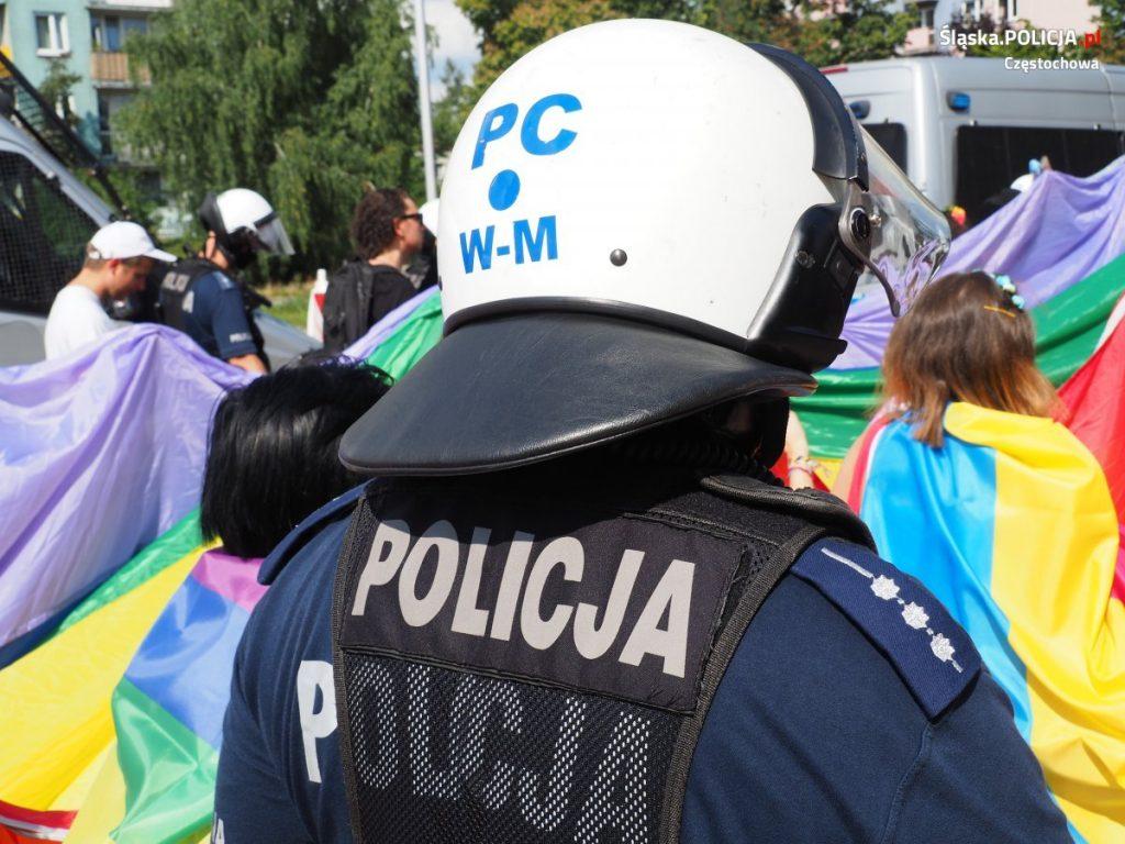 Częstochowska policja podsumowuje sobotni Marsz Równości 6