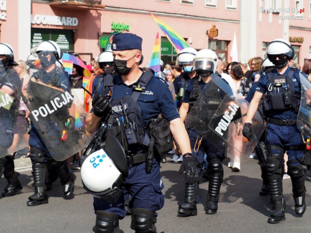Częstochowska policja podsumowuje sobotni Marsz Równości 7