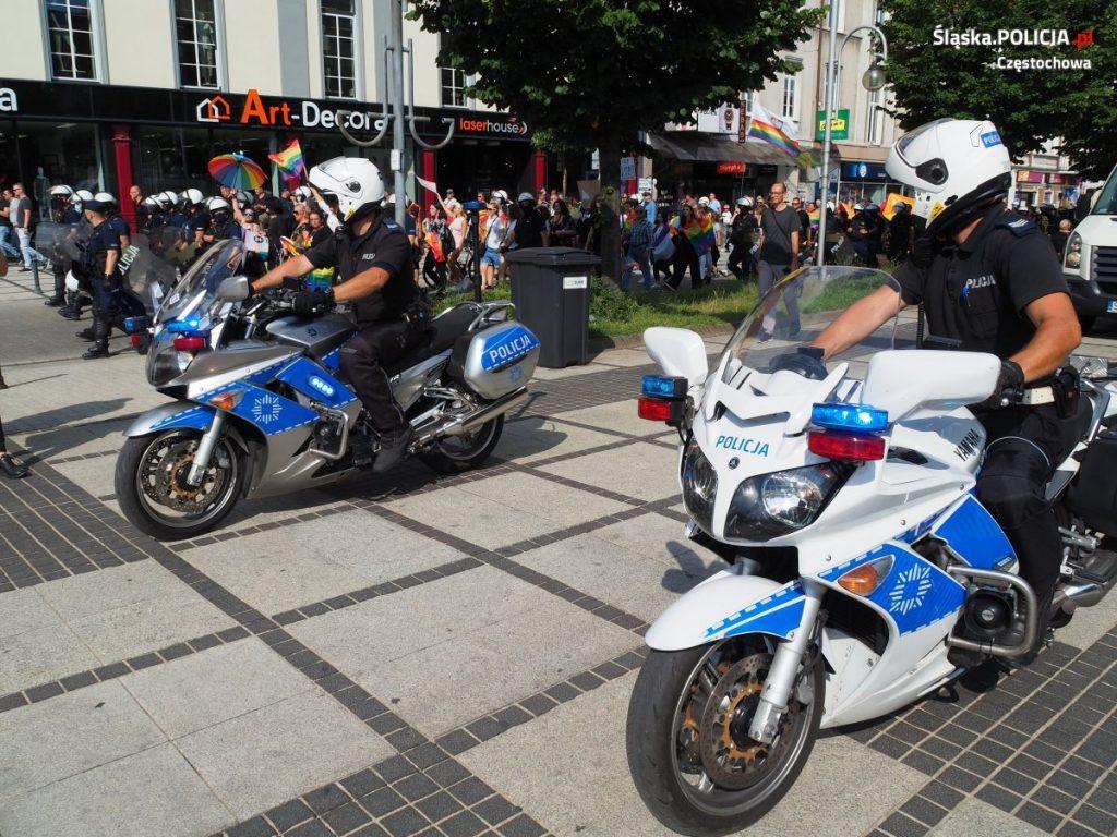 Częstochowska policja podsumowuje sobotni Marsz Równości 8