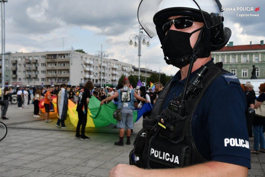 Częstochowska policja podsumowuje sobotni Marsz Równości 10