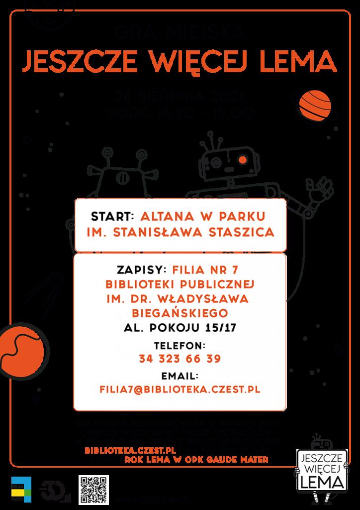 """Gra miejska """"Jeszcze więcej Lema"""" już 28 sierpnia w Częstochowie 1"""