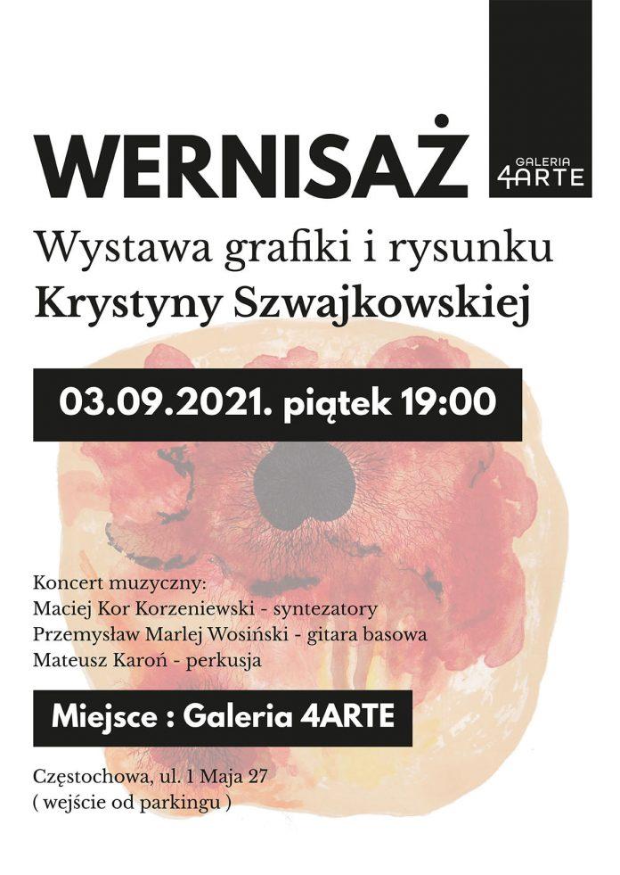Grafika i rysunek Krystyny Szwajkowskiej w częstochowskiej Galerii 4Arte 2