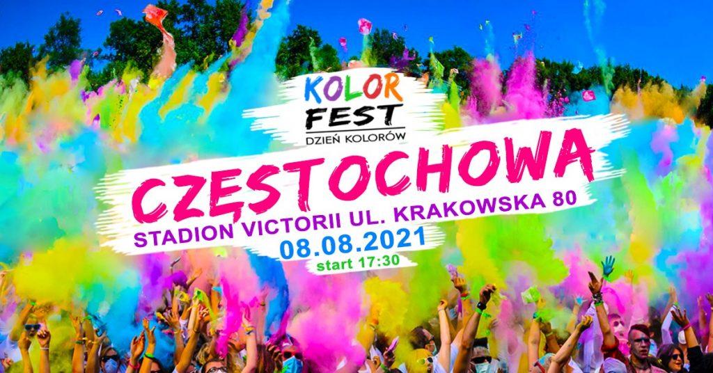 Festiwal Baniek Mydlanych i Kolor Fest w Częstochowie na stadionie Victoria 2