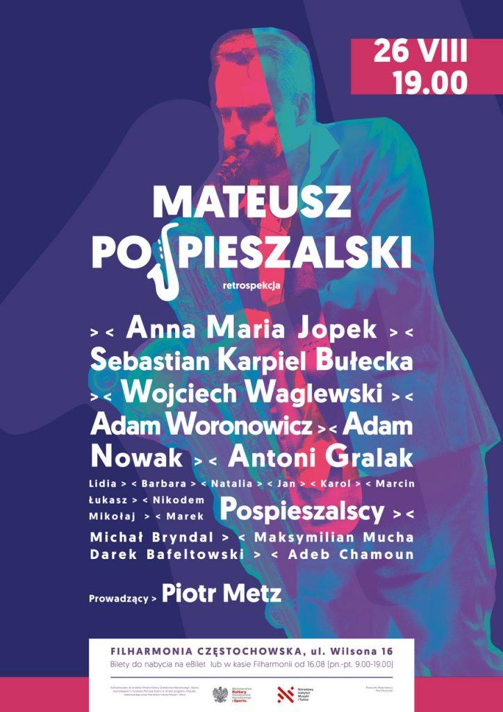 Mateusz Pospieszalski organizuje muzyczne święto. W Częstochowie wystąpią m.in. Anna Maria Jopek i Adam Nowak 4