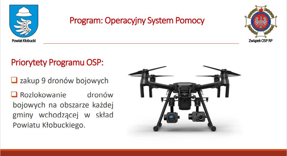Nowoczesne drony bojowe dla służby OSP Powiatu Kłobuckiego 5