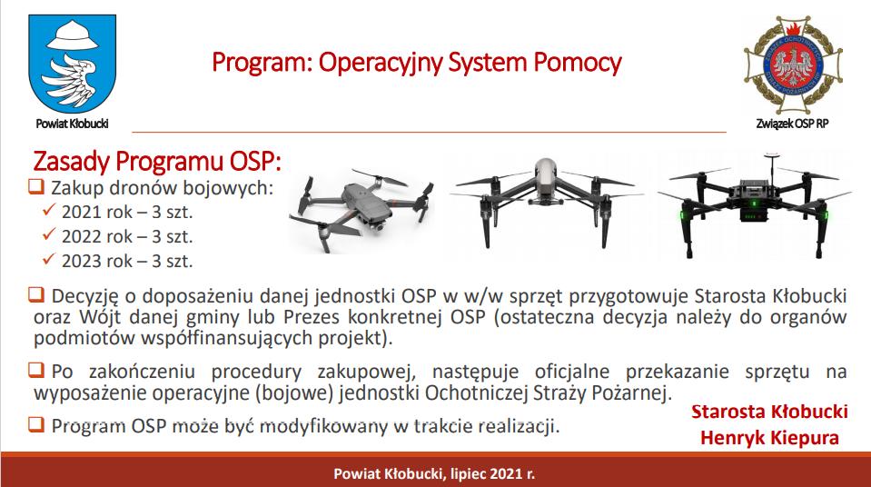 Nowoczesne drony bojowe dla służby OSP Powiatu Kłobuckiego 6