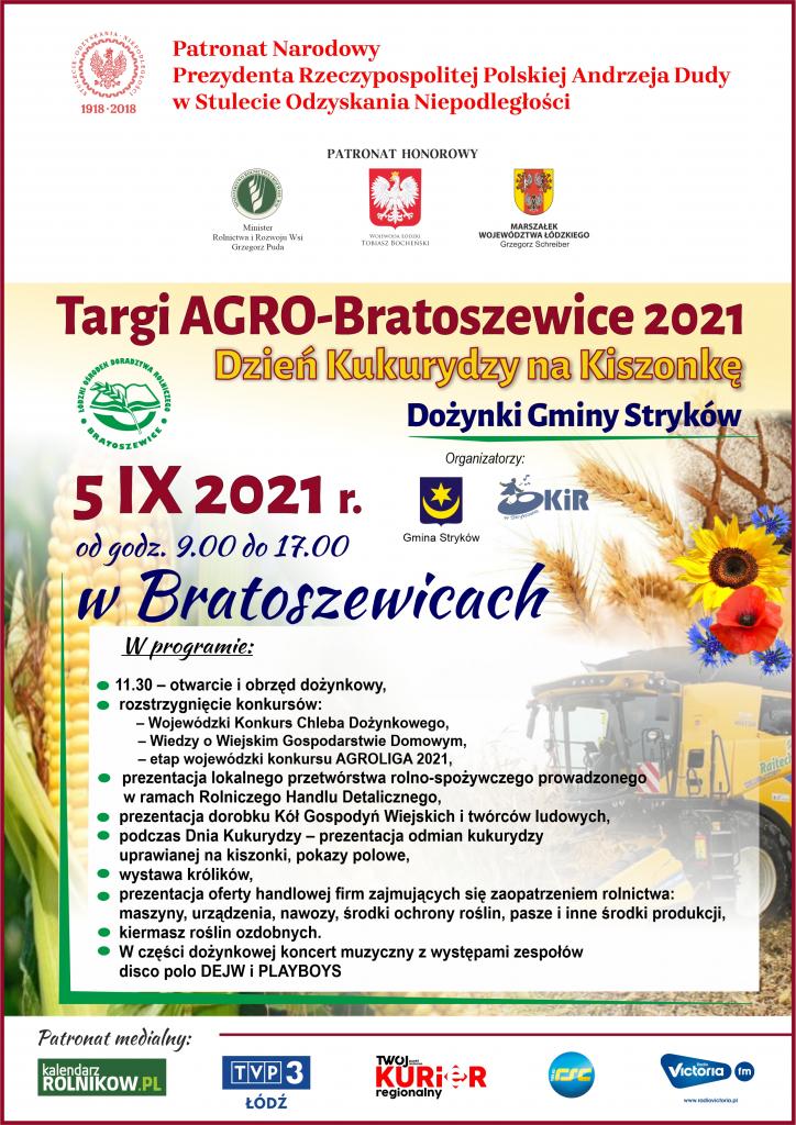 Targi Agro-Bratoszewice 2021 wraz z Dożynkami Gminy Stryków 1
