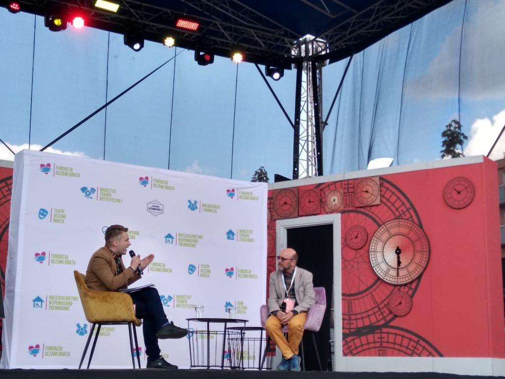 Artur Barciś odwiedził Festiwal Kultury Alternatywnej eFKA 2