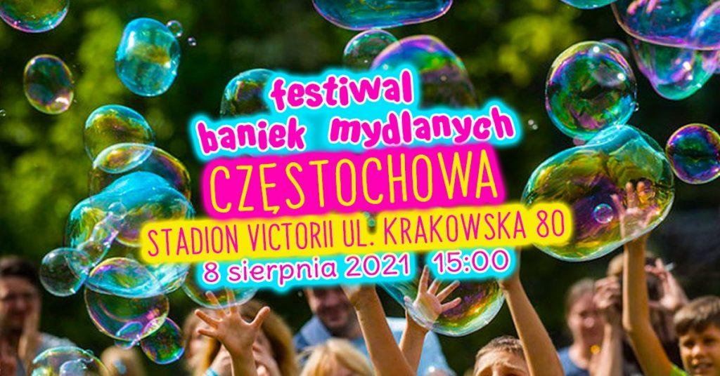 Festiwal Baniek Mydlanych i Kolor Fest w Częstochowie na stadionie Victoria 1