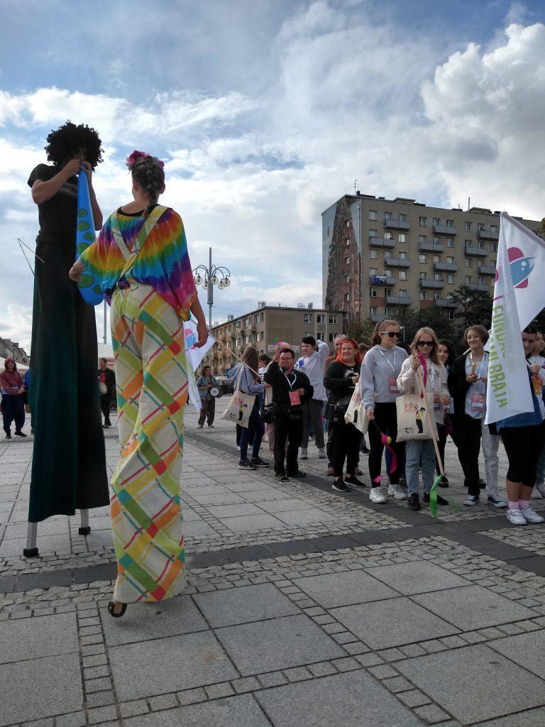 Korowód na otwarcie Festiwalu Kultury Alternatywnej eFKA 9