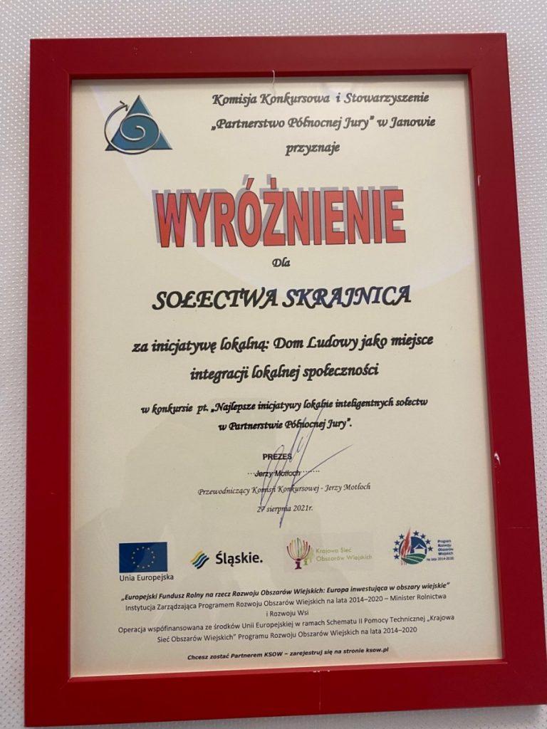 Sołectwa Olsztyn i Skrajnica dostały wyróżnienia 4