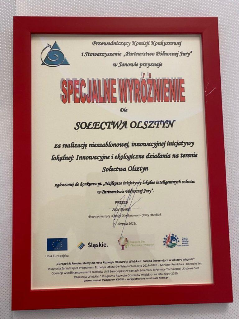 Sołectwa Olsztyn i Skrajnica dostały wyróżnienia 5