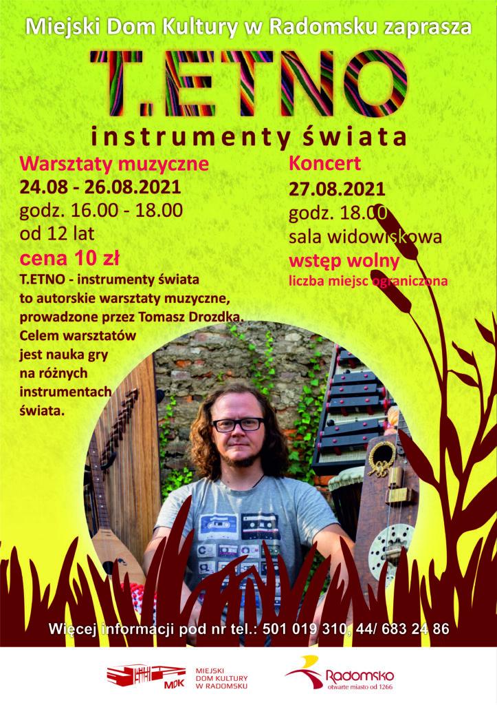 Miejski Dom Kultury w Radomsku zaprasza na warsztaty muzyczne i koncert 1