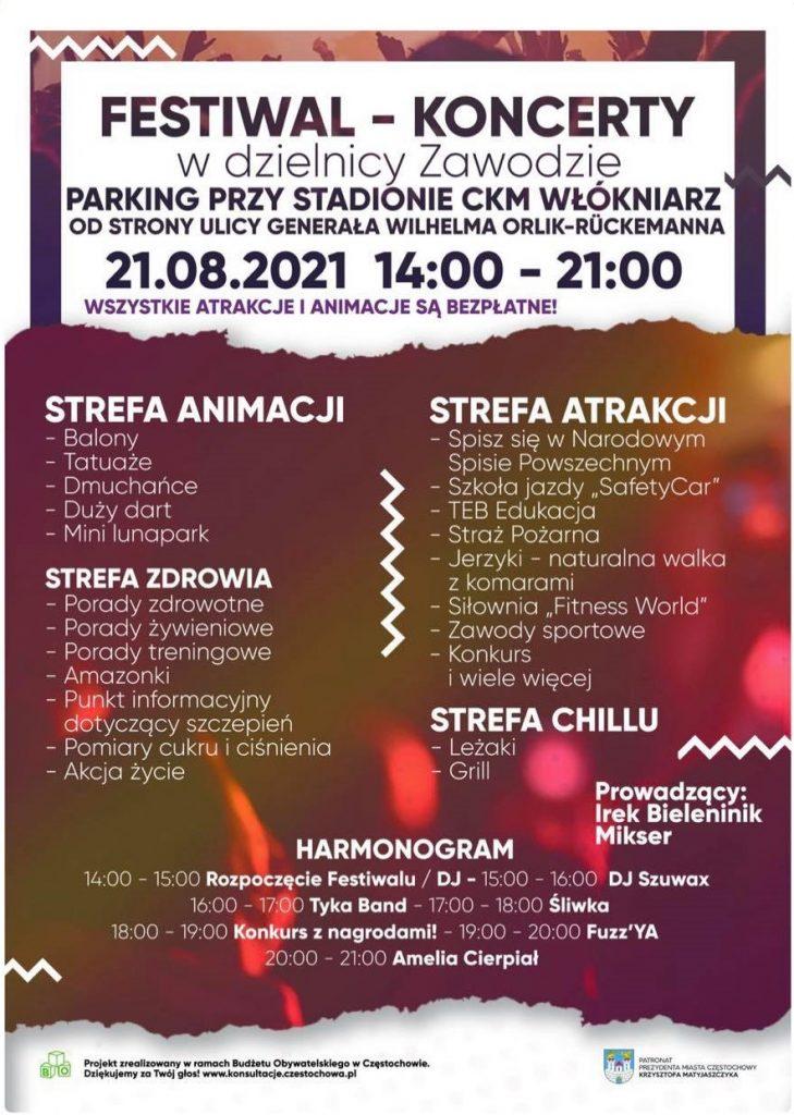 Festiwal – Koncerty w dzielnicy Zawodzie już jutro! 1