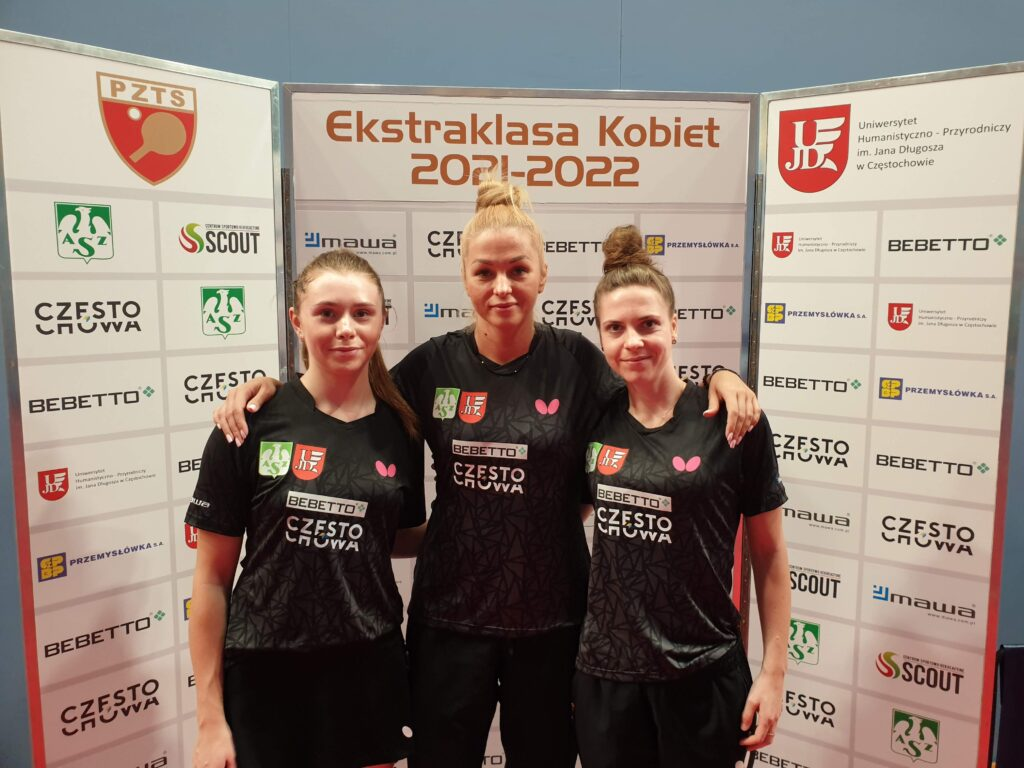 Tenisistki stołowe Bebetto AZS UJD Częstochowa rozpoczęły nowy sezon od wygranych z Łomżą i Toruniem! 1