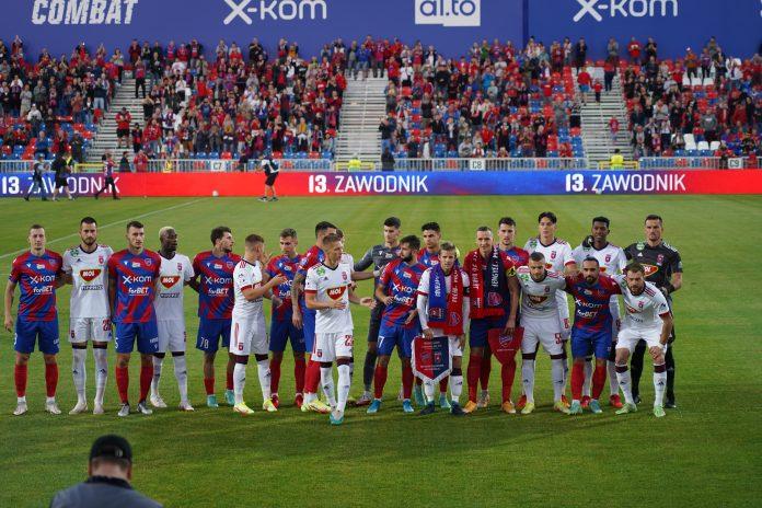 Grad bramek w jubileuszowym meczu Rakowa z MOL Fehervar FC na 100-lecie częstochowskiego klubu 9