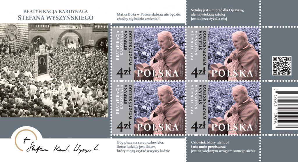 Poczta Polska wydała okolicznościowy znaczek z okazji beatyfikacji kardynała Stefan Wyszyńskiego 1