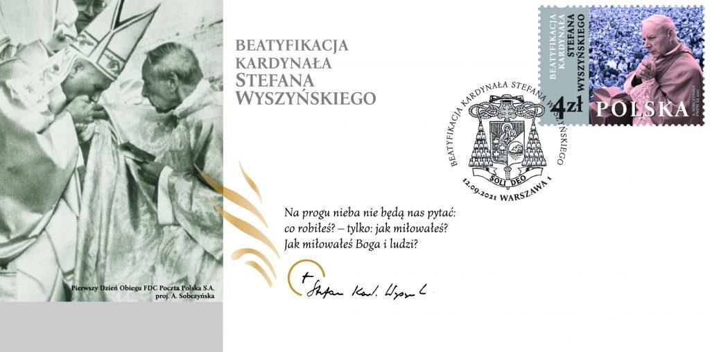 Poczta Polska wydała okolicznościowy znaczek z okazji beatyfikacji kardynała Stefan Wyszyńskiego 3