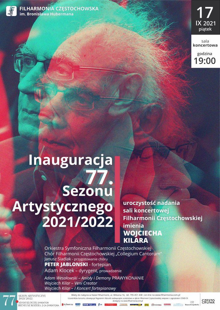 Inauguracja 77. sezonu artystycznego. Sala koncertowa Filharmonii Częstochowskiej otrzyma imię Wojciecha Kilara 1