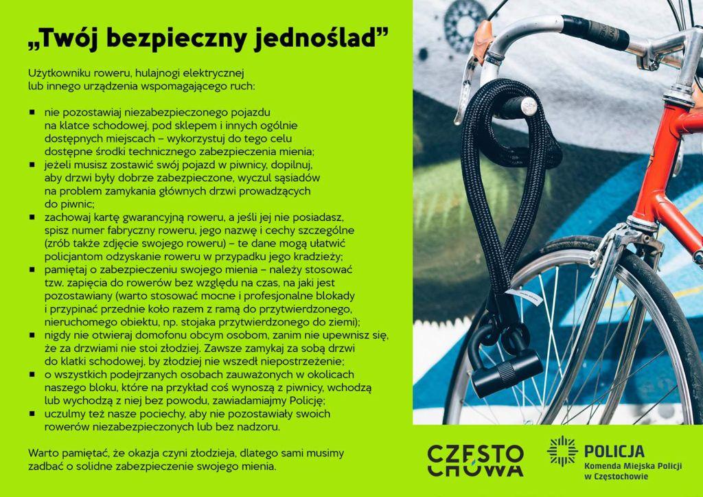 Kradną rowery! Miasto i częstochowska policja ostrzegają 5