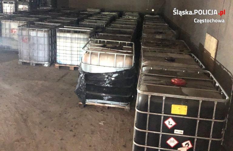 Częstochowscy policjanci ujawnili składowisko niebezpiecznych odpadów na terenie woj. łódzkiego 1